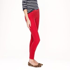 J. Crew Red Toothpick Jeans 25 Ankle